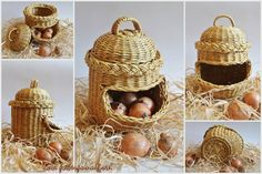 Basket for onion, made from paper