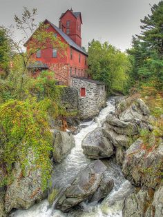 Chittenden Mill, on Route 15 in Jericho, Vermont; photo by .Jeff
