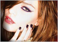 Purple cat eye  Dip-Pen look!