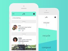 Dribbble - Recycling App by Eric Bailey