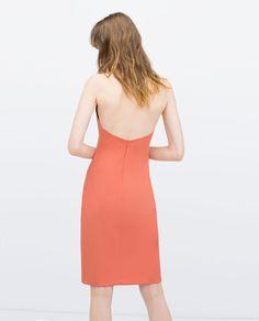 ZARA - WOMAN - HALTER NECK TUBE DRESS