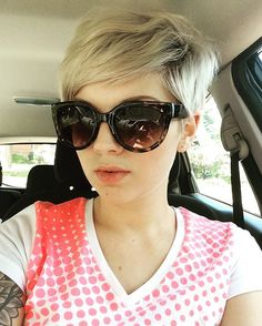 Trying out a different style #pixie #pixiecuts #pixiecut #short #shorthair #hair #hairstyles #haircut #blonde #blondehair #summer