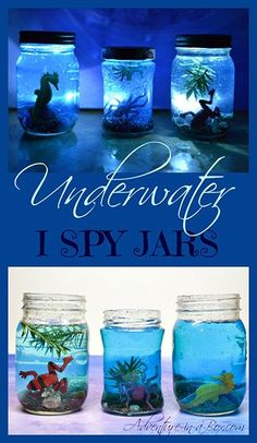 Underwater I Spy jars from Adventure in a Box