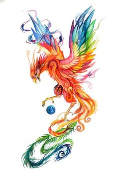 Regal Phoenix by Katy Lipscomb [Colour pencils and markers] Pheonix tattoo idea! face more shadowed with quote above Phoenix Drawing, Phoenix Art, Phoenix Painting, Phoenix Quotes, Body Art Tattoos, New Tattoos, Tatoos, Wing Tattoos, Celtic Tattoos