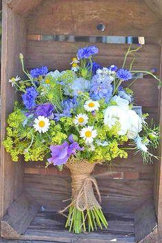 Summer Wildflower Wedding Bouquet