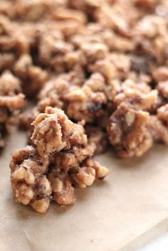 Cinnamon sugared walnuts: 1 lb whole walnuts- 1 1/2 cups sugar- 1 cup milk- 2 tsp cinnamon- 1/2 tsp salt- 1 tsp vanilla.../click to see