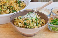Quinoa with Artichokes, Asparagus and Walnuts