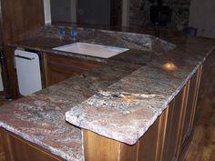 Crema Bordeaux Granite Chiseled Edge Detail