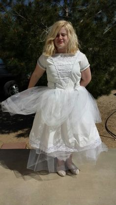 """Just finished a dress for my daughter for a """"OUAT"""" birthday party... thought it turned out well from scraps I had laying around."""
