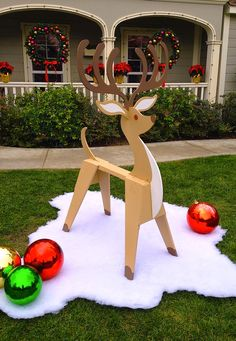 Oh I love the saw horse reindeer for Christmas