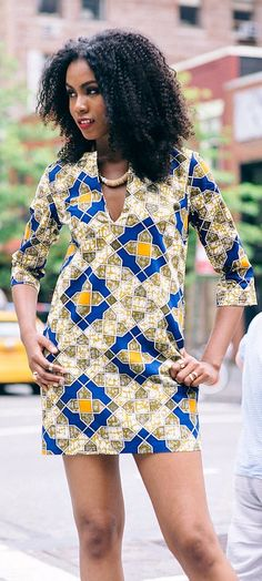 African Print Shift Dress. The Afia Shift dress is made from a gorgeous printed cotton fabric fashioned with a V neck and short sleeves. This easy pull over style is a must for your spring wardrobe. Ankara | Dutch wax | Kente | Kitenge | Dashiki | African print dress | African fashion | African women dresses | African prints | Nigerian style | Ghanaian fashion | Senegal fashion | Kenya fashion | Nigerian fashion | Ankara crop top (affiliate)