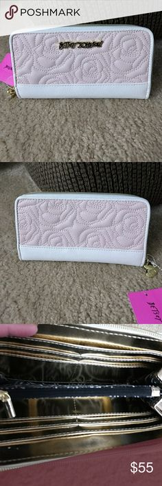 ❣️Sale - Limited Time ❣️Betsey Johnson Wallet Pink and White Rose quilted wallet - BBS0020 Betsey Johnson Bags Wallets