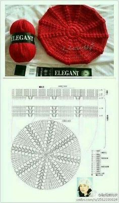 Boina Crochet modelo y patrón