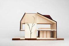 Laser-cut model/ wood