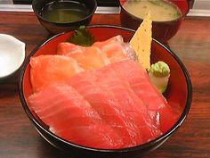 salmon & chutoro-don