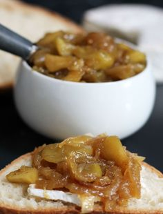 Homemade apple and caramelized onion chutney. A simple and delicious condiment, appetizer, or snack | Mother Would Know