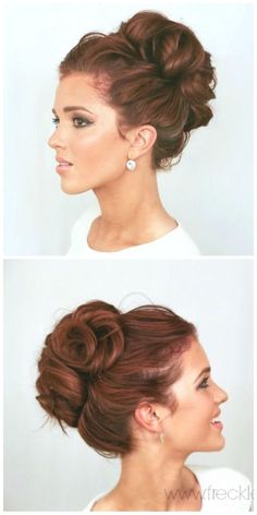 Wedding Hairstyles Chignon Elegant Bun wedding hairstyles elegant bun elegant and hair style Wedding Bun Hairstyles, Elegant Hairstyles, Long Hairstyles, Indian Hairstyles, Bridesmaids Hairstyles, Vintage Wedding Hairstyles, Grecian Hairstyles, Homecoming Hairstyles, Hairdos