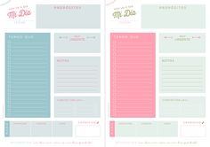 These adorable planner pages makes me wish I knew Spanish(?)! Freebies…