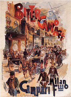 Vintage Italian Posters ~ #Italian #vintage #posters ~  Bitter Campari, 1894