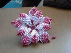 How to make 3d origami flower (model1) - YouTube