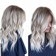 Instagram media habitsalon - Wavy blonde • by @hairby_chrissy
