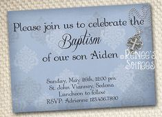 Boys BAPTISM INVITATION Boy Christening, Baby Baptism, Baptism Ideas, First Communion Invitations, Baptism Invitations, Invitation Design, Invitation Ideas, Invite, Baby Dedication Invitation