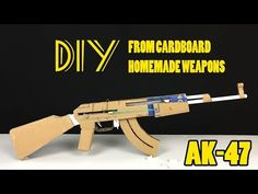 How To Make Cardboard AK47 That Sh00ts - With Magazine - YouTube