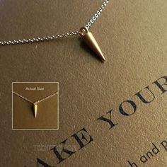 "MAKE YOUR MARK necklace 14K Gold dipped with 16"" gold filled chain"