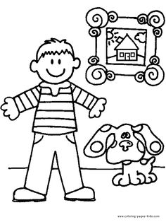 blues clues color page cartoon characters coloring pages color plate coloring sheet