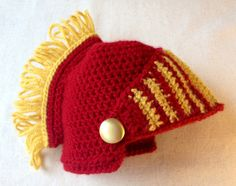 Newborn USC Trojan hat and diaper cover by BeccasItsyBits