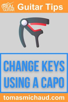 Using a capo is a valuable skill for anyone learning guitar. It's not difficult to learn how to use a capo properly, though there are a few things you need to know to get the maximum benefit from this powerful tool. There are several different ways to use a capo on the acoustic guitar. However, 90% of the time, it's used to change a song's pitch up or down to make it easier to sing along. In this guitar lesson, I'll teach you everything you need to know about changing keys using a capo. Play Guitar Chords, Learn Acoustic Guitar, Guitar Sheet Music, Guitar Songs For Beginners, Basic Guitar Lessons, Learning Guitar, Playing Guitar, Guitar Tutorial, Guitar Tips