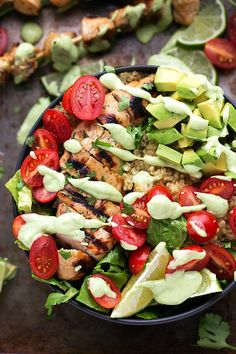 """verticalfood: """"Grilled Honey-Lime Chicken over Cilantro-Lime Quinoa """""""