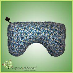 Natural and Print Options Organic Caboose Organic Cotton Nursing Pillow Cover Blue Floret