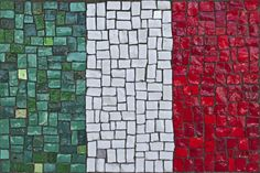 Italian flag mosaic