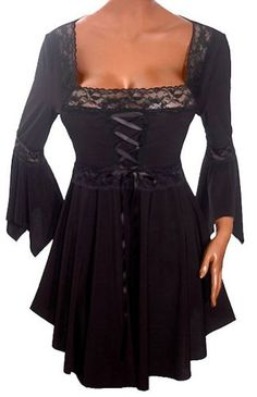 FUNFASH GOTHIC BLACK EMPIRE WAIST CORSET TOP SHIRT WOMENS Plus Size New 1X XL 16 Made in USA Funfash,http://www.amazon.com/dp/B0087RL4EO/ref=cm_sw_r_pi_dp_c5W6rb0J6NRAB8H2
