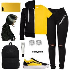 Baddie Outfits With Black Jeans · Bilimsi Swag Outfits For Girls, Cute Swag Outfits, Teenage Girl Outfits, Cute Outfits For School, Teen Fashion Outfits, Dope Outfits, College Outfits, Stylish Outfits, Fashion Tips
