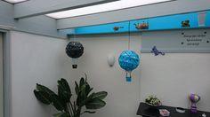 """"""" luftballoner lavet af rispapirlamper"""