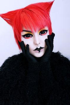 Be adventurous, be bold! Get raven cat makeup look with Phantasee Black Sclera lenses. Sabretooth black lenses are raven black and lustrous. They are 22mm in size so are bound to cover your eyes completely.