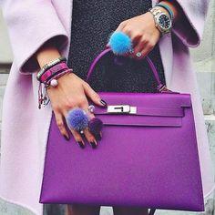 Imagem de bag, fashion, and purple