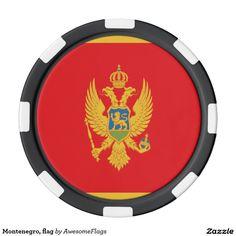Montenegro, flag set of poker chips