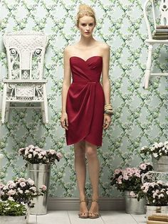 Dessy Bridesmaid/Prom Dress - Red (candy Apple) - Size 8 | eBay