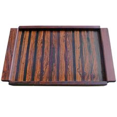 1stdibs | Don Shoemaker Parquetry Service Tray, Made in Tropical Woods