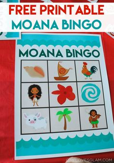 Free Printable Moana Bingo on www.girllovesglam.com