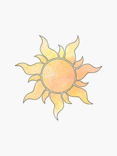 'Tangled Sun' Sticker by Designs By S&C Disney Tattoo – Fashion Tattoos Rapunzel Sun, Tangled Sun, Tangled Flower, Sun Tattoo Designs, Sun Designs, Disney Tattoos, Sun Tattoos, Body Art Tattoos, Tangled Tattoo