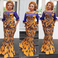 If you are Looking for Latest Ankara Skirt and Blouse Styles then You're in at the right place. we have some lovely selected of Ankara skirt and blouse styles that we are sure you will love African Dresses For Women, African Print Dresses, African Print Fashion, African Attire, African Wear, African Fashion Dresses, Ghanaian Fashion, African Prints, African Women