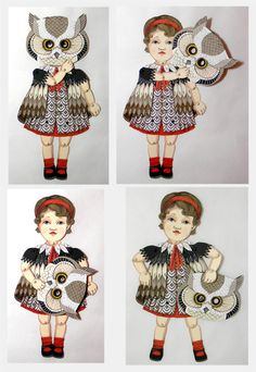 Favorite  Like this item?    Add it to your favorites to revisit it later.  Ellowynn Owl-- DIY Articulated Paper Doll Set