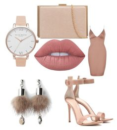 """""""Everything nude 😍"""" by banbangotit on Polyvore featuring River Island, Olivia Burton, Lime Crime, Gianvito Rossi and Simons"""