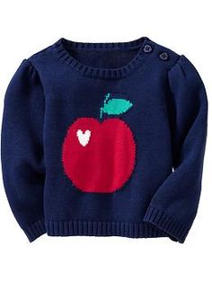 @Joyce Mason Mom, you KNOW she has to have an apple sweater!  Apple-Graphic Sweaters for Baby at Old Navy