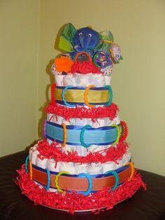 Eric Carle Diaper Cake, Gender Neutral Diaper Cake, Made 8/2012