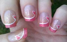 Elegant sparkly French manicure for Valentine's Day https://www.youtube.com/watch?v=VrEciIF_THw